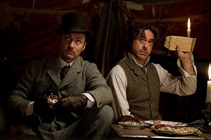 MYSTERY DRAIN Downey and Law continue to play out their Victorian bromance.