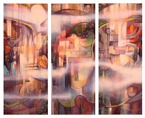 "COURTESY OF ONE ARTS CENTER - ""Mystic Triptych"" by Brooke Monte"