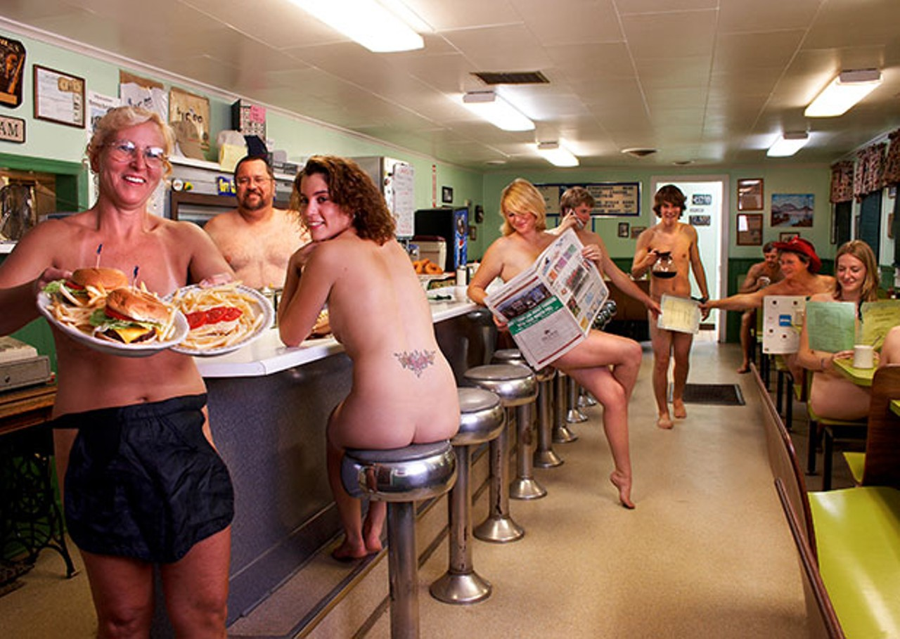 Working fast food naked final, sorry