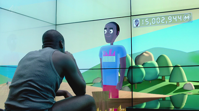 """Virtual avatars get more outdoor time than their users in """"Fifteen Millon Merits."""" - CHANNEL FOUR"""