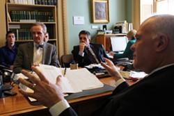 Sens. Chris Bray, Brian Collamore and Joe Benning - PAUL HEINTZ
