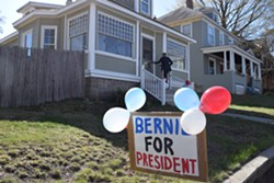 Sen. Bernie Sanders' first house party in New Hampshire earlier this month. - TERRI HALLENBECK