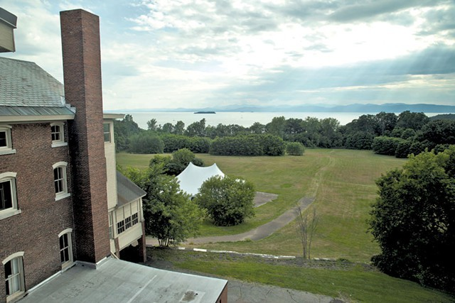 The property behind Burlington College, most of which is now owned by Eric Farrell - MATTHEW THORSEN