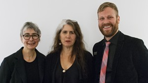 Sumru Tekin, left, with 2013 recipient Kate Donnelly and BCA Center curator DJ Hellerman