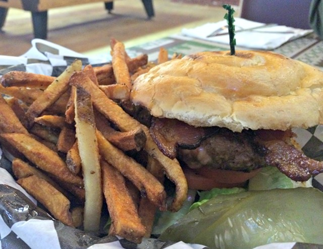 North Country Burger, $11.49 - ALICE LEVITT