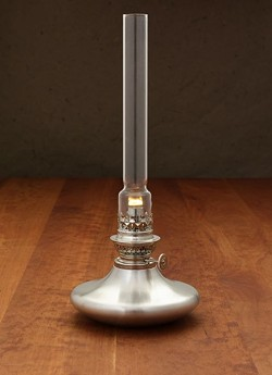 Oil lamp by Danforth Pewter - COURTESY OF DANFORTH PEWTER