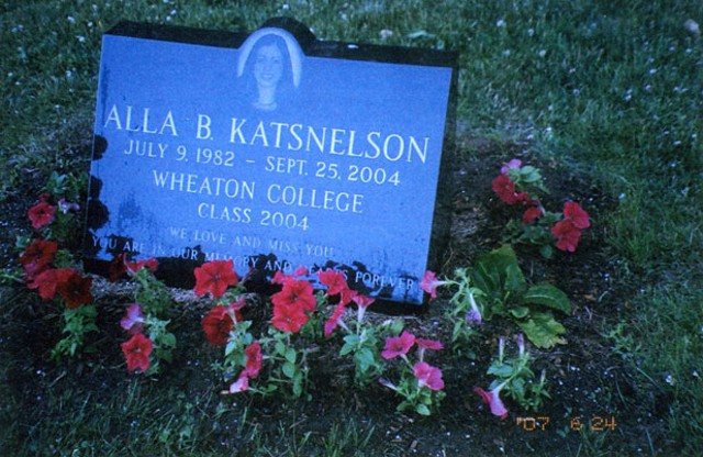 On June 24, Boris and Marina Katsnelson planted petunias at their daughter's grave