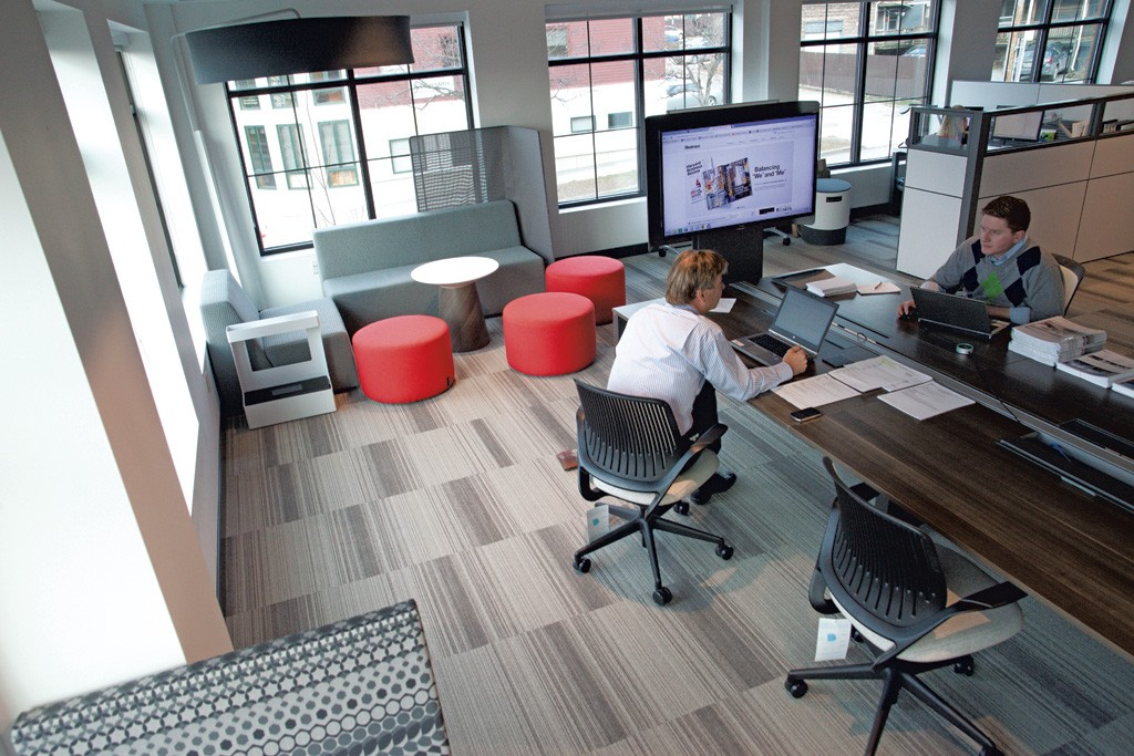 Open layouts make offices multifunctional