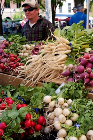 Oven, vegetables from Arethusa Farm - MATTHEW THORSEN