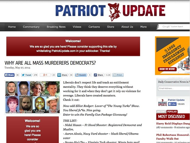 Patriot Update blog post linked to by Mark Donka