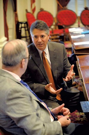 Paul Burns (right) - STEFAN HARD