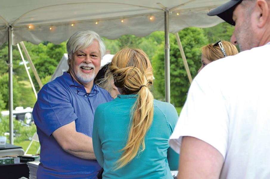 Paul Watson greets fellow Shepherds in Woodstock - ALICIA FREESE