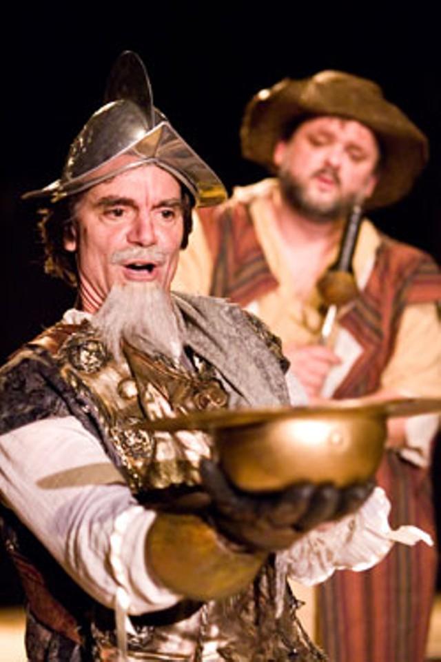 Peter Boynton as Cervantes and Charlie Cerutti as Sancho Panza