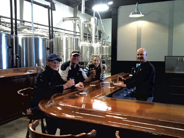 Phil Kaszuba (right) and friends - COURTESY OF QUEEN CITY BREWERY