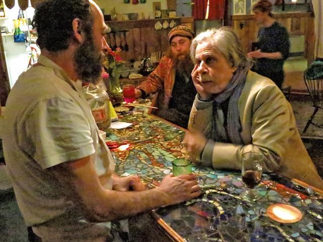 Phinneus Sonin (left) and Greg Guma at Psychedelicatessen - MATTHEW THORSEN