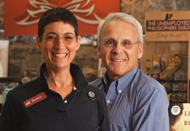 Renée Reiner and Michael DeSanto, co-owners of Phoenix Books - FILE   MATTHEW THORSEN
