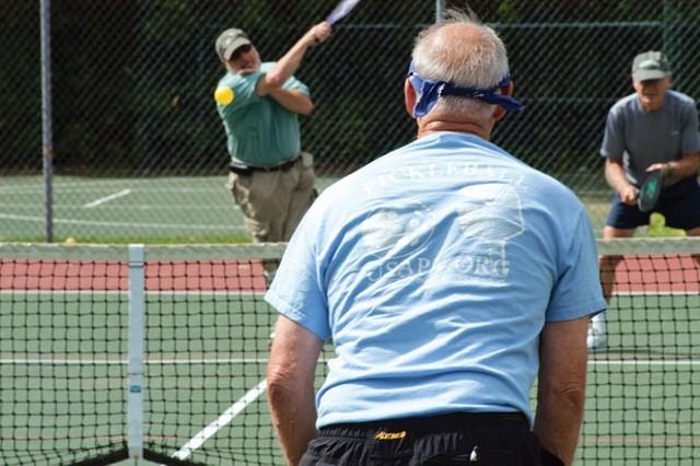 Pickleball players at Cascade Park - MATTHEW THORSEN