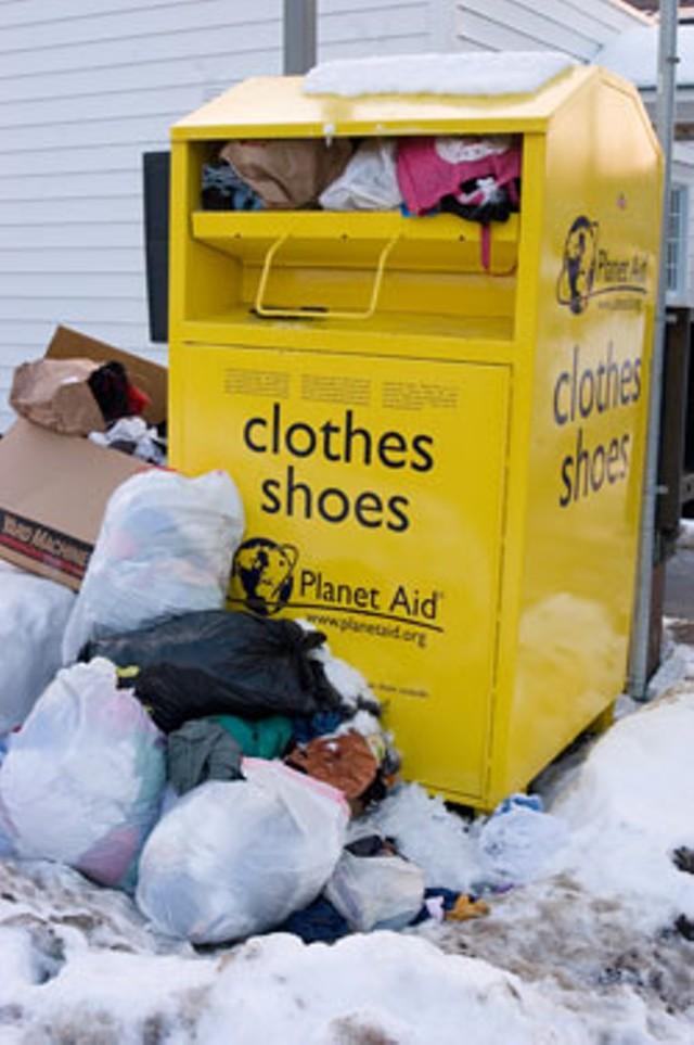 Planet Aid collection boxes - MATTHEW THORSEN