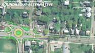 Plans for a Shelburne Road Roundabout Divide Transportation Types