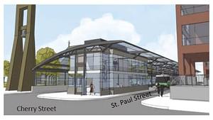 Plans for the new transit center