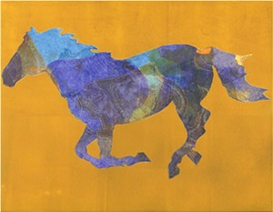 COURTESY OF THE GREEN MOUNTAIN CULTURAL CENTER - Pochoir monotype by Sheryl Trainor