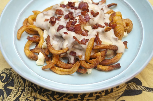 Poutine is better with bacon gravy. - HANNAH PALMER EGAN