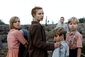 PRIDE AND PREJUDICE Saskia Rosendahl (center) plays a privileged teen whose delusions of Aryan superiority remain unquestioned even with the Third Reich in ruins.