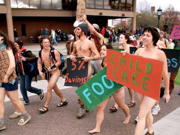 Protest at UVM