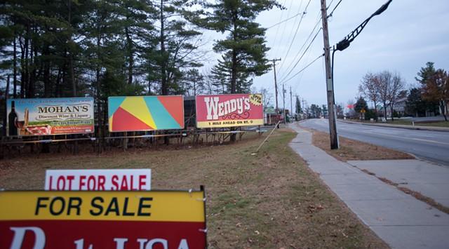 Robert Hitzig's billboard in Queensbury, N.Y. - COURTESY OF EMMA DODGE HANSON