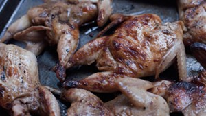 Quail, hot off the grill