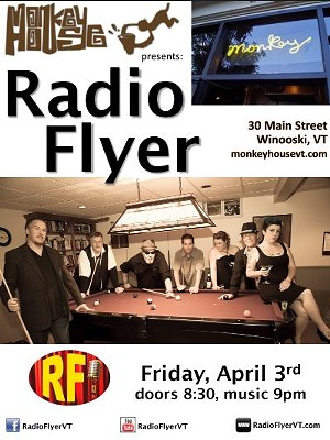 Radio Flyer at The Monkey House!  4/3/15