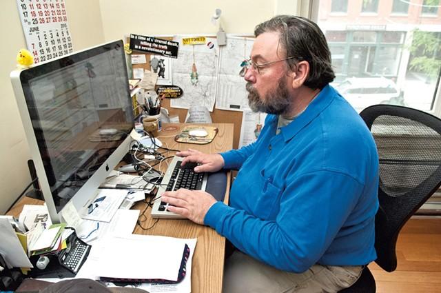 Randy Holhut, news editor at the Commons - ZACH STEPHENS