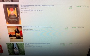 Recently-sold Hill Farmstead beers on eBay