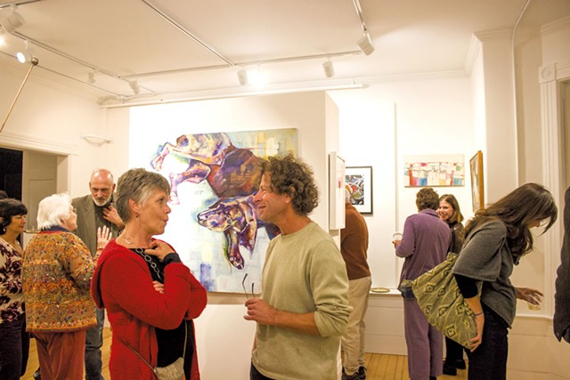 "Reception at the ""Local Color"" exhibit - COURTESY OF EMMY WALDEN FOX PHOTOGRAPHY"