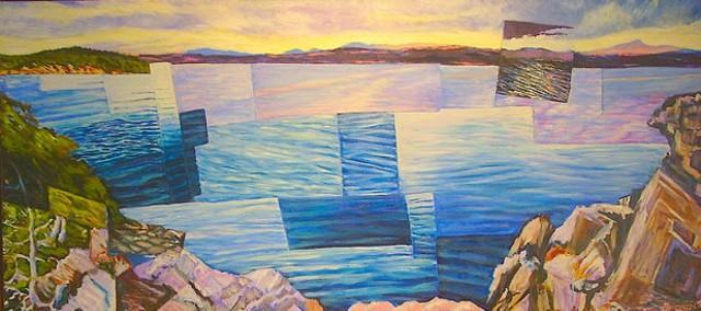 """Red Rocks From Shelburne Point"" by Dan Gottsegen"