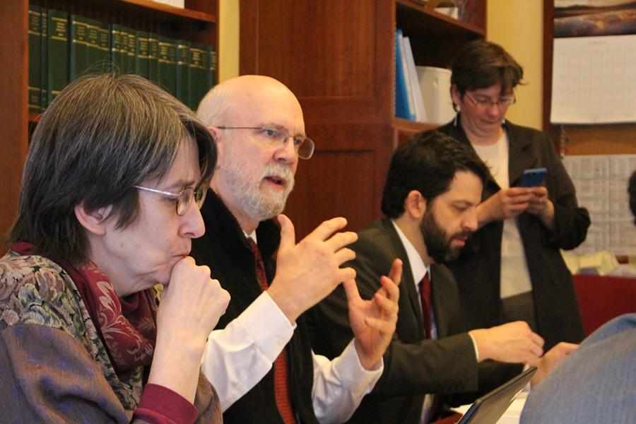 Reps. Anne Donahue, Bill Lippert and Chris Pearson - PAUL HEINTZ