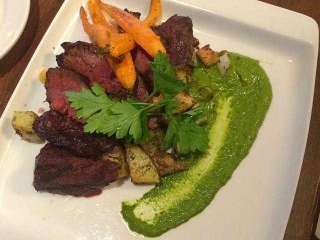Grilled Hanger Steak with Potato Hash - ALICE LEVITT