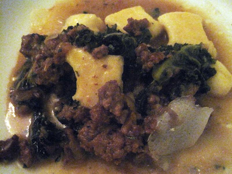 Ricotta gnocchi with Vermont pork ragout