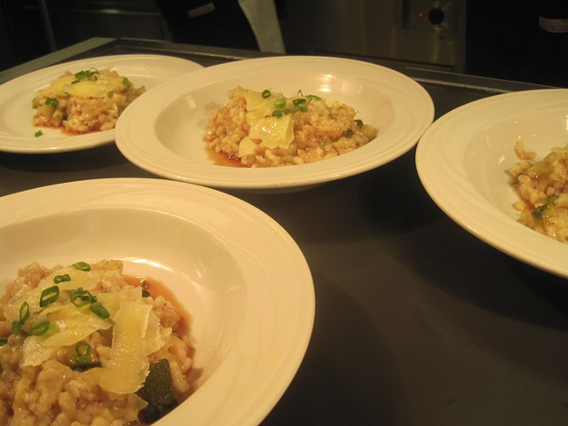 Risotto with zucchini