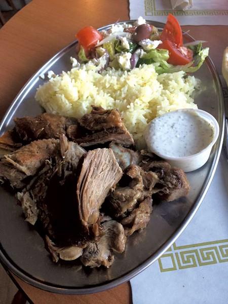Roasted lamb dinner at Café Mediterano - COURTESY OF MARK DAVIS