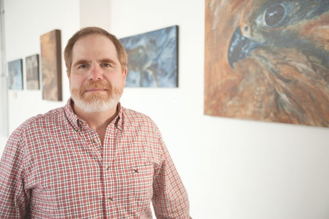 Rod MacIver at the Heron Dance Wild Nature Art Gallery - MATTHEW THORSEN