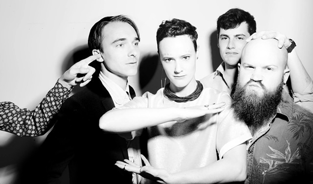 Rubblebucket, minus most of Kal Traver, seen giving Alex Toth a wet willie - COURTESY OF RUBBLEBUCKET