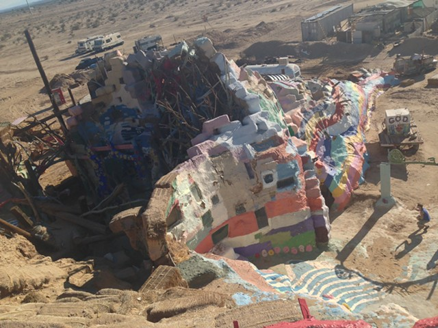 Salvation Mountain from above - PAULA ROUTLY