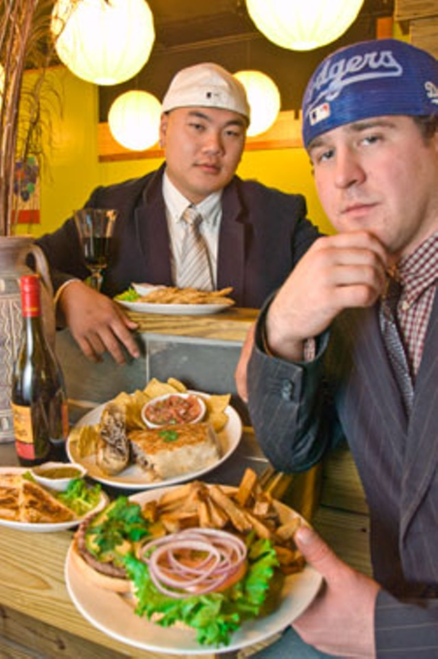 Sam Lai and Max Saltis at One Pepper Grill - MATTHEW THORSEN