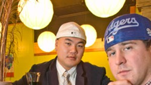 Sam Lai and Max Saltis at One Pepper Grill