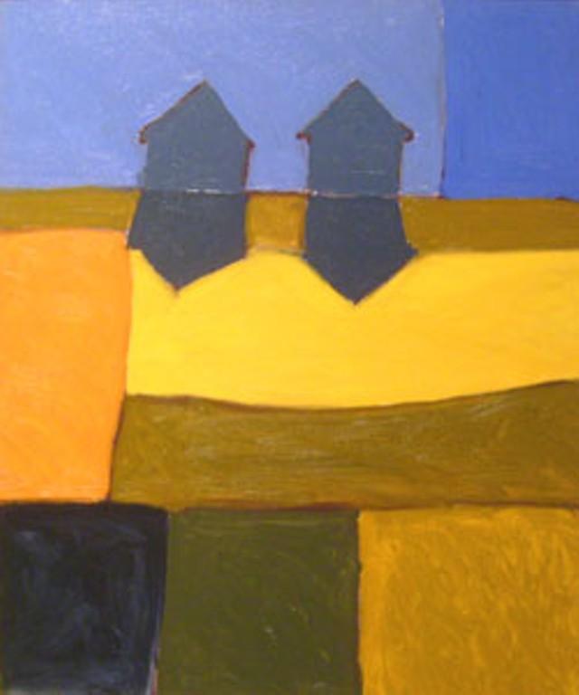 """""""San Gimignano #1,"""" oil on canvas"""
