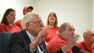 Sanders and Striking Workers Decry FairPoint, Urge Concessions