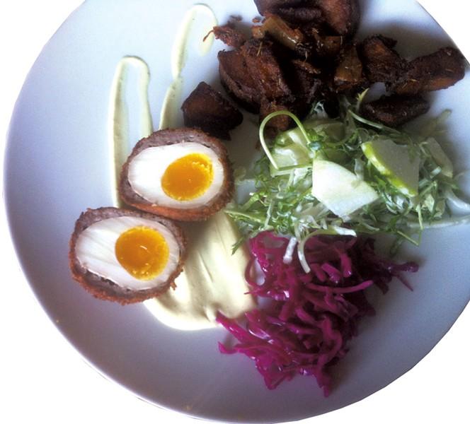 Scotch egg at Phantom - HANNAH PALMER EGAN