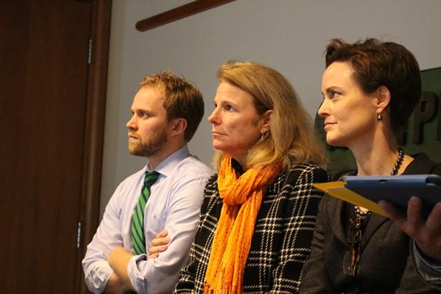 Scott Coriell, Sue Allen and chief of staff Liz Miller. - PAUL HEINTZ