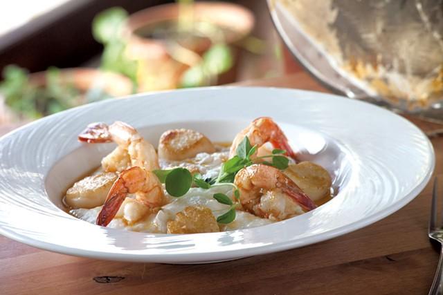 Seafood grits - MATTHEW THORSEN